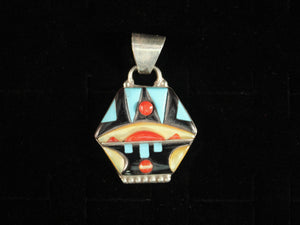 Abstract Zuni Inlay Pendant