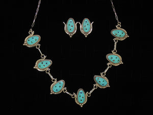 Turquoise Maize Necklace Set