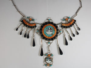 Gorgeous Sunface Fringe Necklace