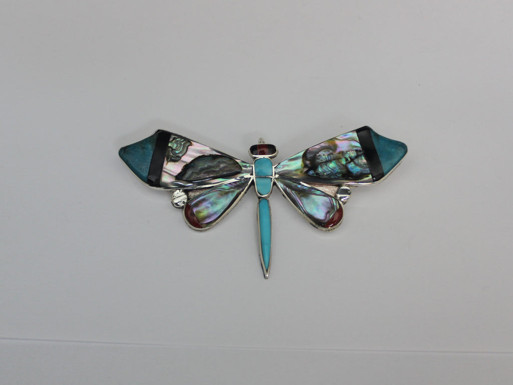 Stunning Abalone Dragonfly Pin/Pendant