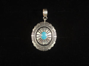 Concho Stamped Pendant