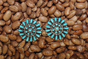Zuni, Post, Cluster, Turquoise, Women, Earring