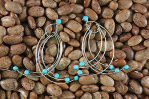 Contemporary, Dangle, Zuni, turquoise, Women, Earring