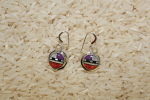 Colorful, Inlay, Zuni, Dangles, Contemporary, Women, Earring