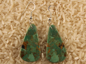 Green Turquoise Slab Earrings