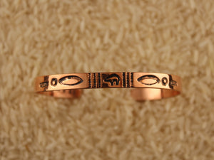 Narrow Stacker Copper Bracelet