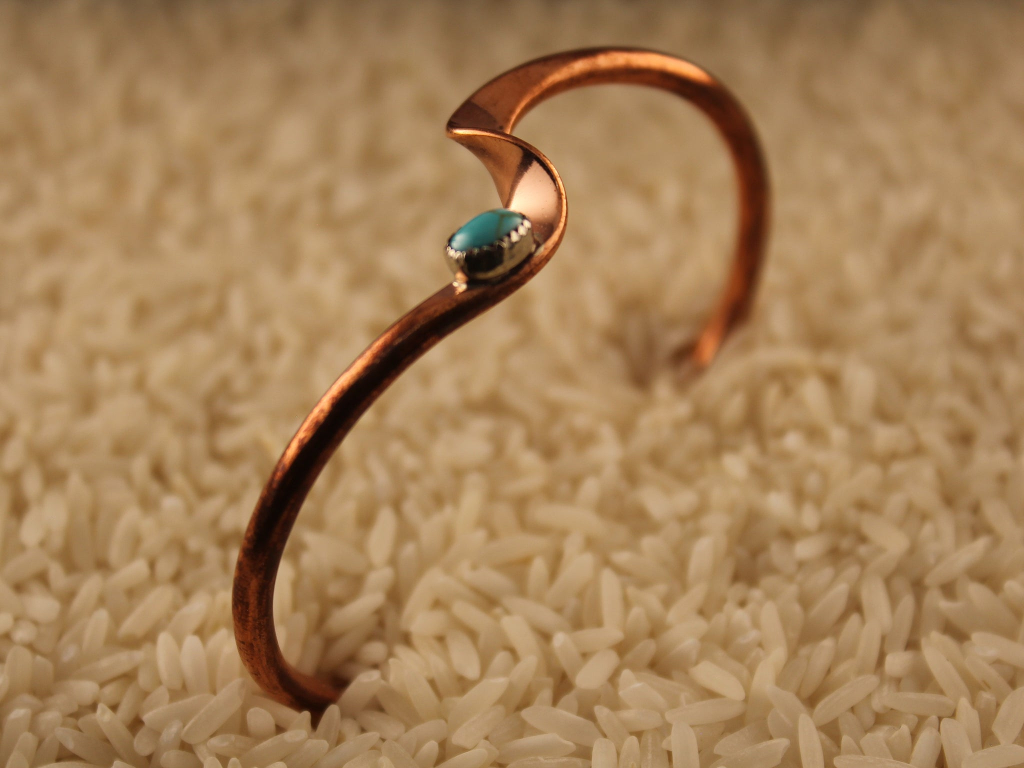 Copper Wave Bracelet