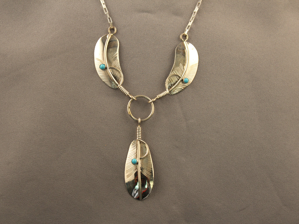 Three Feather Necklace Set