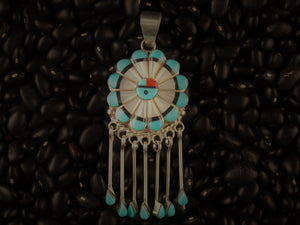 Sunface Pendant with Fringe