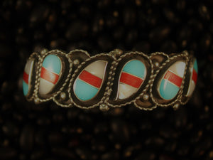 Tri-Color Paisley Cuff