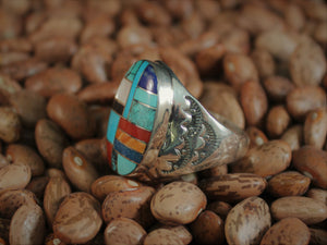 Mosaic Inlay Signet Ring