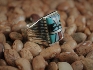 Domed Zuni-styled Inlay Ring