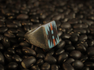 Square Rug Design Signet Ring