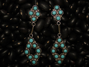 Zuni Dot Diamond Dangle Earring