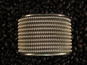 Gorgeous 10 row Silver Cuff