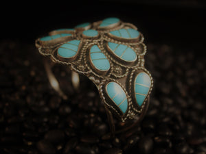Turquoise Paisley Cluster Cuff