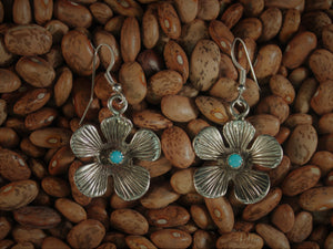 Brilliant Sandcast Flower Earrings
