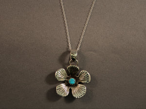 Brilliant Sandcast Flower Pendant