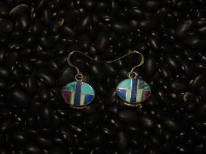 Unique Multicolor Inlay Earrings