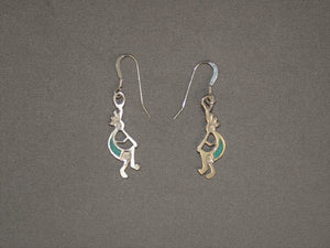 Inlaid Kokopelli Dangles