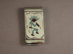 Chip Inlay Kokopelli Money Clip