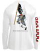 Skeleton Holding Pirate Flag - UPF 40 Long Sleeve Shirt