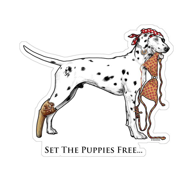 """Bikini Dog"" Decal"