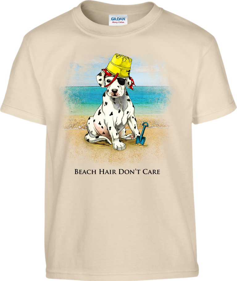 Beach Hair Don't Care- Sea Pup T-Shirt