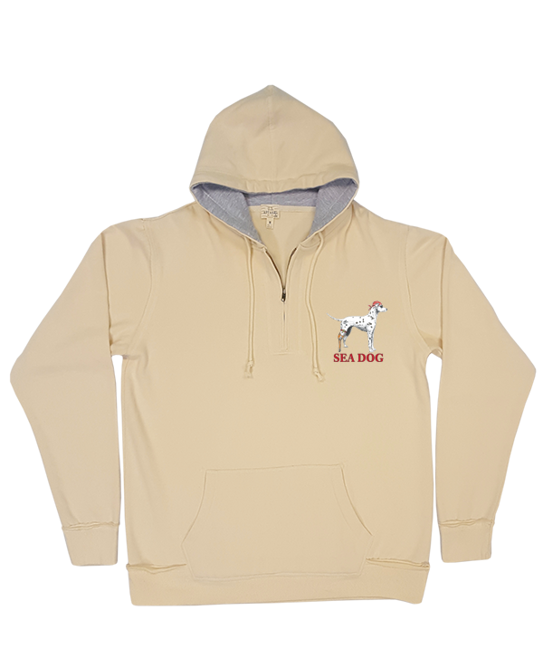 The Original Dog - 1/4 Zip Hoodie Peached Fleece