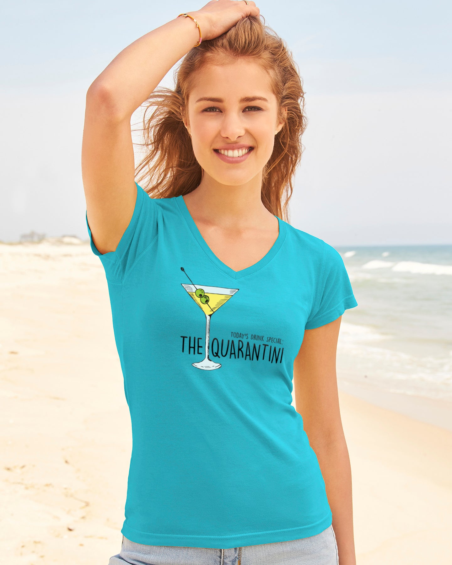 The Quarantini - Ultra Soft V-Neck