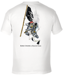 Skeleton Holding Pirate Flag - Short Sleeve UPF 30