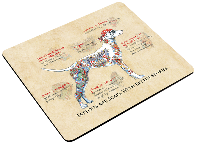 Mouse Pad - Tattoo Dog