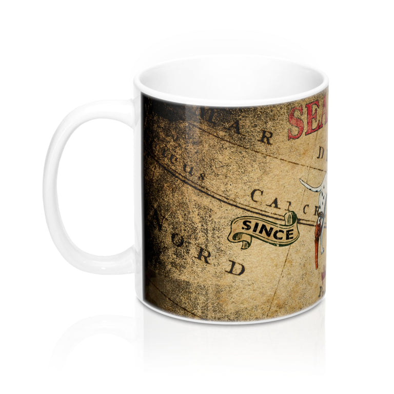 Treasure Map Mug 11oz
