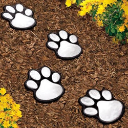 Set of 4 Paw Print LED Solar Lights