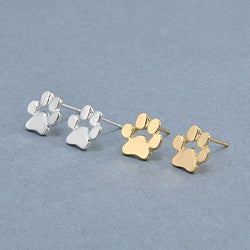 Cute Cat and Dog Paw Print Earrings