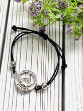 Load image into Gallery viewer, Yoga Mantra Bracelet - A Perfect Gift for Yoga Lovers - Namaste B*tches - Moonstone MantraWear