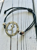 Inspirational Runner Girl Mantra Bracelet - In It For The Long Run - Moonstone MantraWear