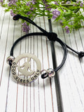 Yoga Mantra Bracelet - A Perfect Gift for Yoga Lovers - Good Vibes Only - Moonstone MantraWear