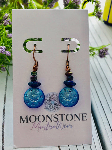 Moon and Stars Earrings - Moonstone MantraWear