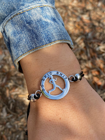Inspirational Runner Girl Mantra Bracelet - Do Epic Sh*t - Moonstone MantraWear