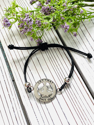 Yoga Mantra Bracelet - A Perfect Gift for Yoga Lovers - Let That Sh*t Go - Moonstone MantraWear
