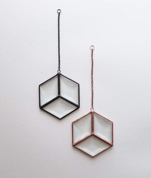 Diamond Bevel Hexagon Suncatcher