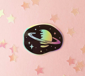 Saturn Holographic Sticker