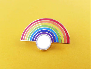 Rainbow Mirror Enamel Pin