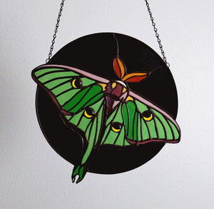 Moon Moth Suncatcher