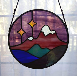 Mountain Landscape with Stars (Iridescent)