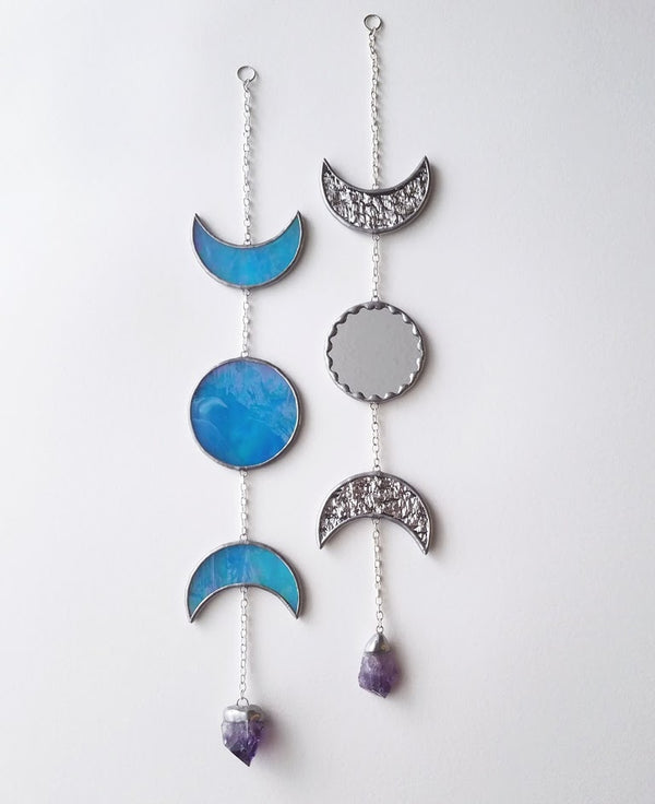 Moon Phases with Crystal Suncatcher