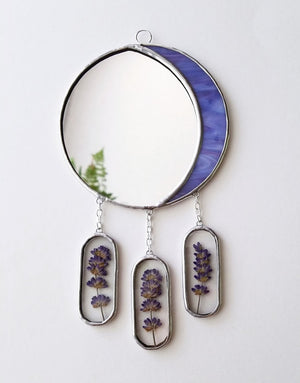 Crescent Moon with Lavender Wall Hanging