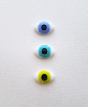 Fused Glass Eye Pebbles