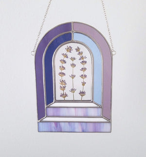 Arched Stairway with Lavender Suncatcher